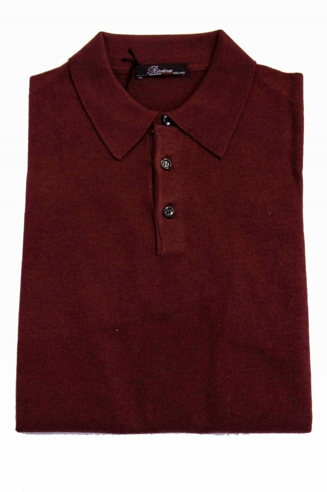 Riviera Sweater: Burgundy Polo