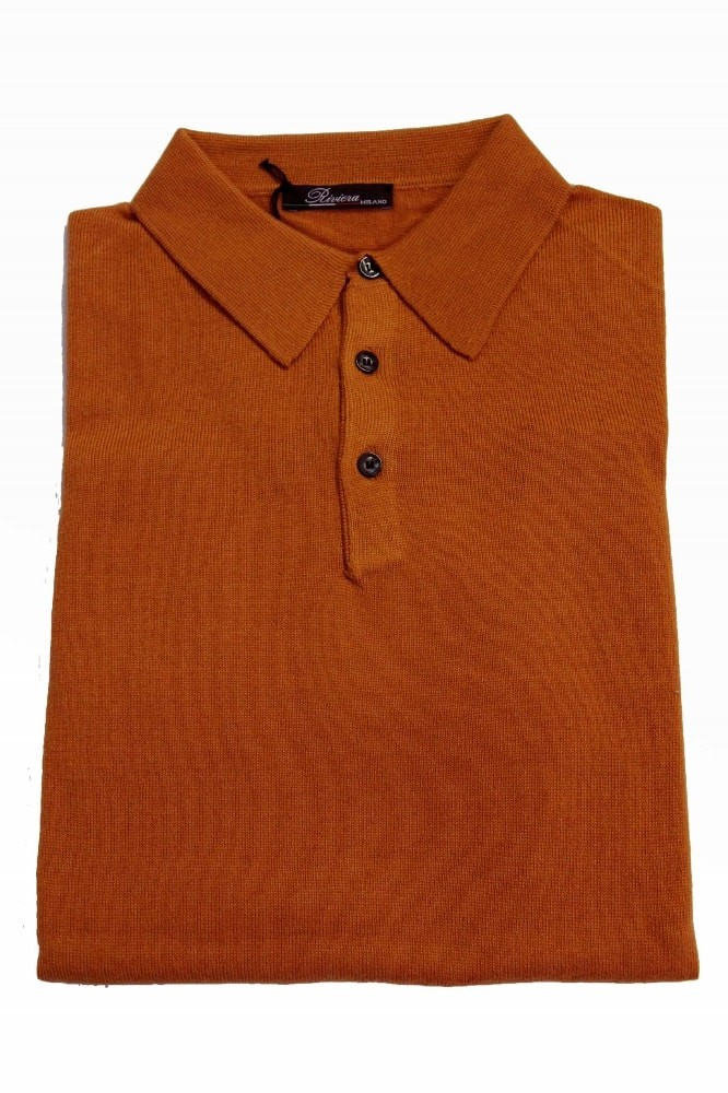 Riviera Sweater: Orange Polo