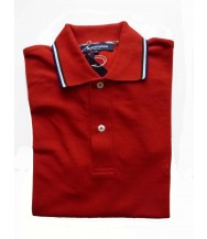 Aquascutum Polo Shirt: Small Short Sleeve Red