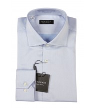 Benjamin Dress Shirt: Blue Micro Weave