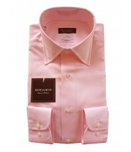 Benjamin Dress Shirt: Pink Oxford