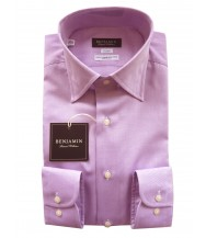 Benjamin Dress Shirt: Purple Twill