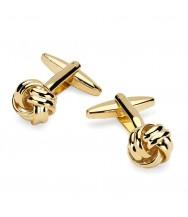 Benson & Clegg: Gilt Knot Cufflinks