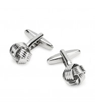 Benson & Clegg: Chrome Knot Cufflinks
