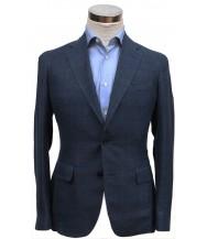 Bella Spalla Sport Coat: Blue Plaid