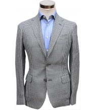 Bella Spalla Sport Coat: Blue with Grey Check