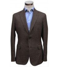 Bella Spalla Sport Coat: Brown Weave