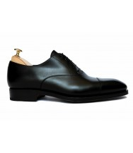 Carmina Black Box Calf Leather Cap-toe Oxford