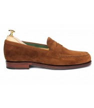 Carmina Snuff Suede Penny Loafer