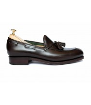 Carmina Brown Box Calf Leather Tassel Loafer