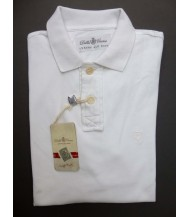 Della Ciana Polo Shirt: Medium Short Sleeve Solid White