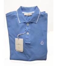 Della Ciana Polo Shirt: X-Small Short Sleeve Sky with White Trim
