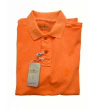 Della Ciana Polo Shirt: Small Short Sleeve Solid Neon Orange