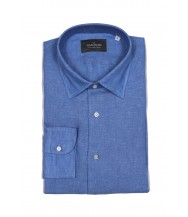 The Wardrobe Casual Shirt: French Blue Linen