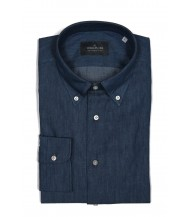 The Wardrobe Casual Shirt: Washed Blue Denim