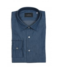 The Wardrobe Casual Shirt: Chambray Blue Denim