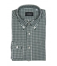 The Wardrobe Casual Shirt: Green Gingham