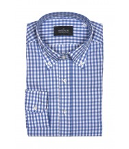 The Wardrobe Casual Shirt: Blue Gingham