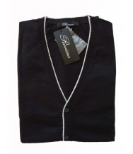 Riviera Sweater: Black Sleeveless Cardigan