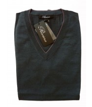 Riviera Sweater: Green Long Sleeve V-neck