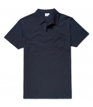 Sunspel Riviera Polo Shirt: Navy