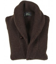 The Wardrobe Sweater Mocha Shawl Collar